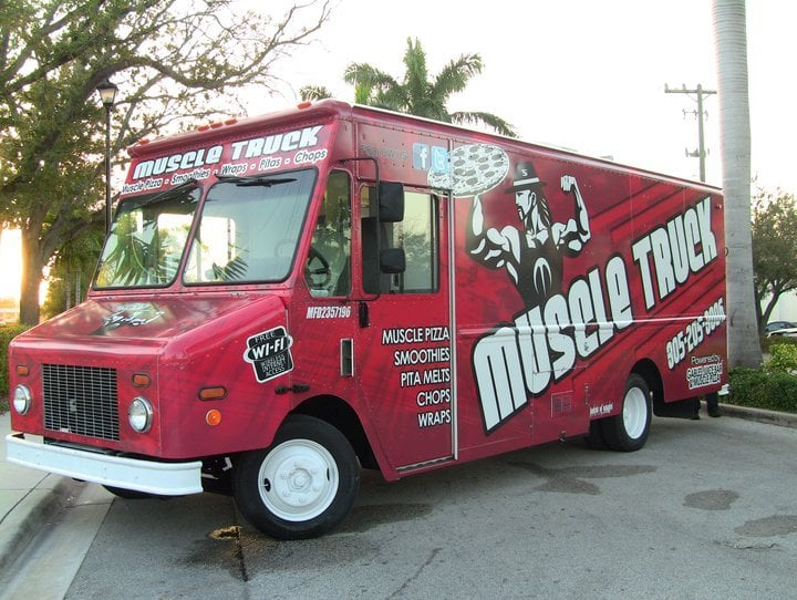 Muscle truck by gables juice bar closed food stands for Food truck juice bar