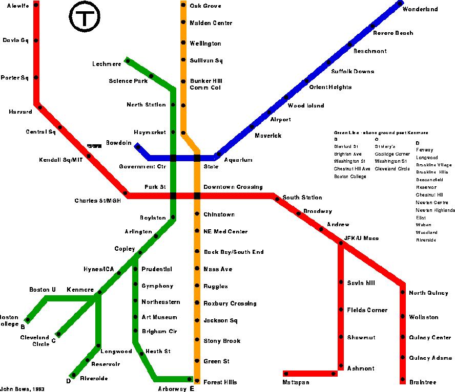 The Train Maps in Boston - Yelp
