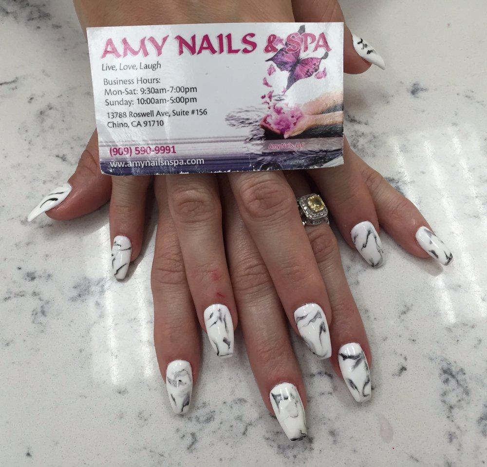 Hot trend: Marble Nails art at Amy\'s Nail! #marbleNails - Yelp