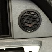 Gold Star Audio - Irvine, CA, United States. Custom tweeter install by PR