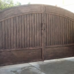 solid backing driveway gate - Yelp Solid Iron Gates