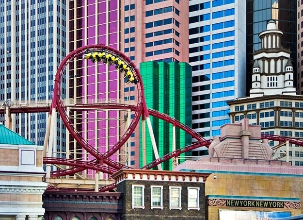 Image result for New York-New York Roller Coaster