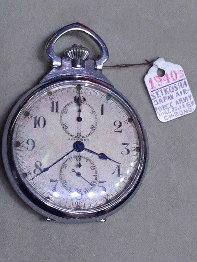 Seikosha Now Seiko Chronograph Pocket Watch Used By High