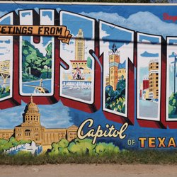 Greetings from austin postcard mural 63 photos 38 for Austin mural location