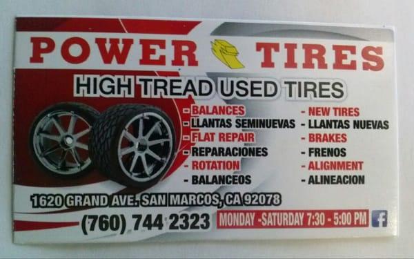 Power Tires 2244 S Santa Fe Ave Vista Ca Tire Dealers Mapquest