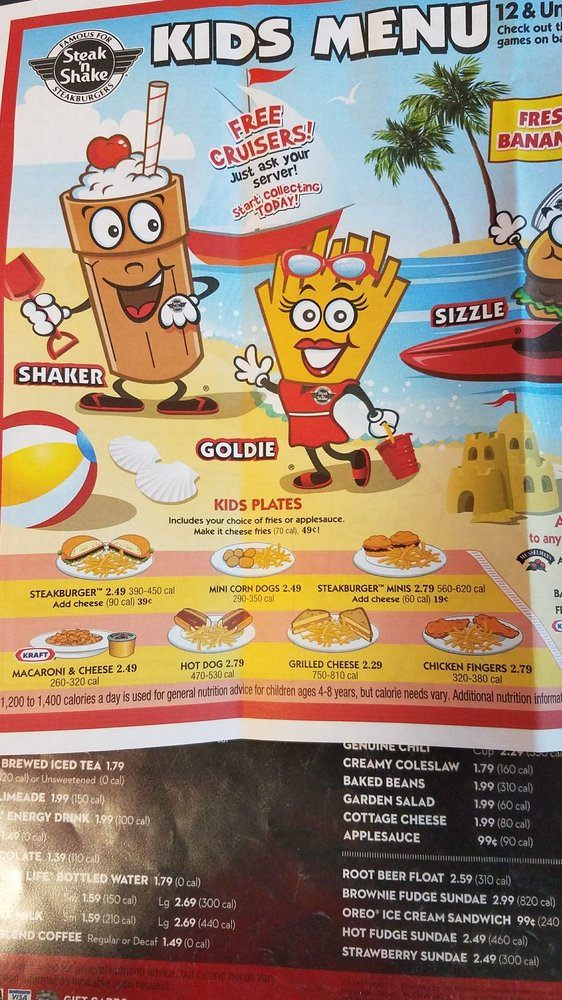 steak n shake menu