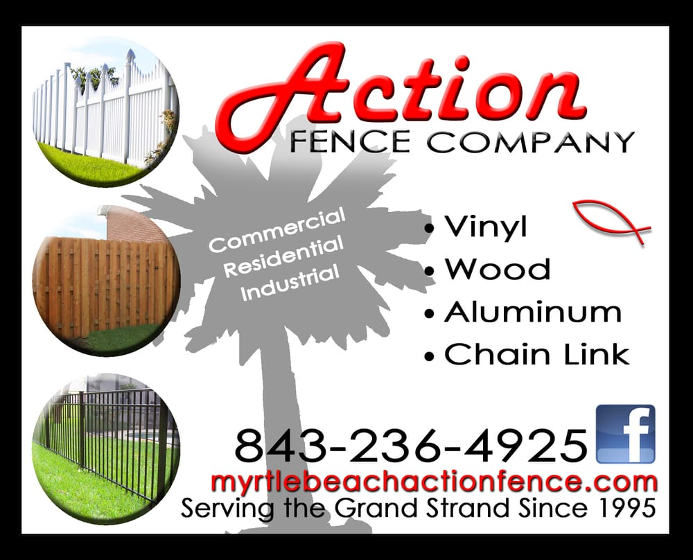Action Fence Company Contractors 4302 Rosea Ln Myrtle