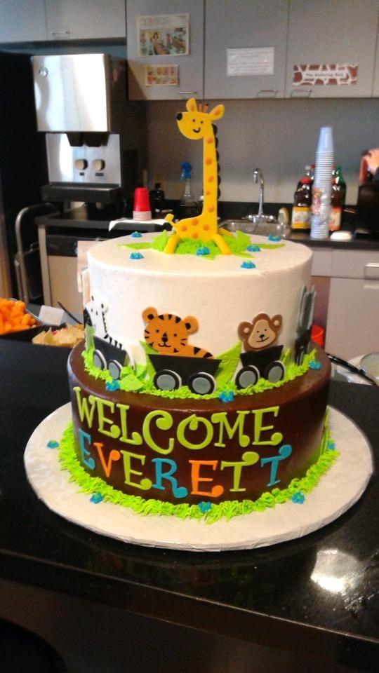 Baby Animal Safari Baby Shower Cake Beautiful Presentation Yelp