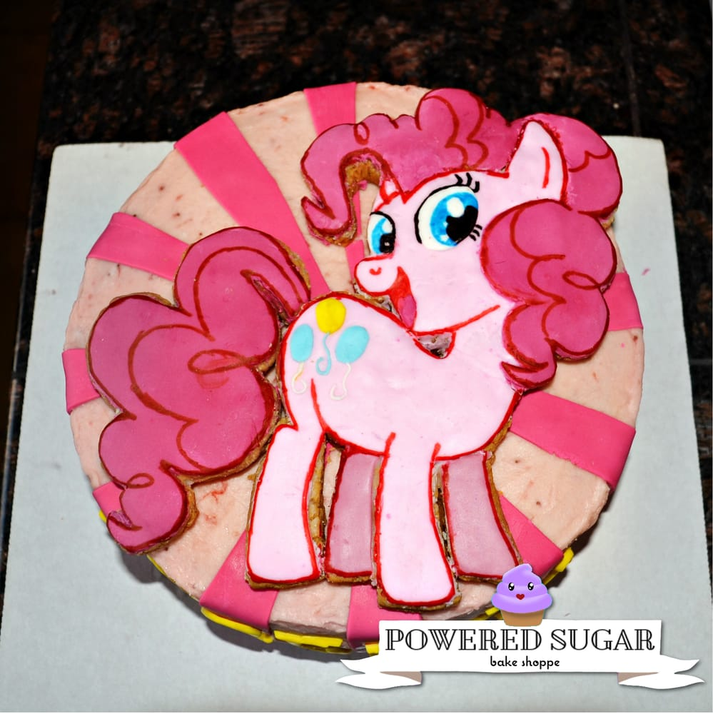 Custom Vanilla My Little Pony Birthday Cake With Strawberry Frosting