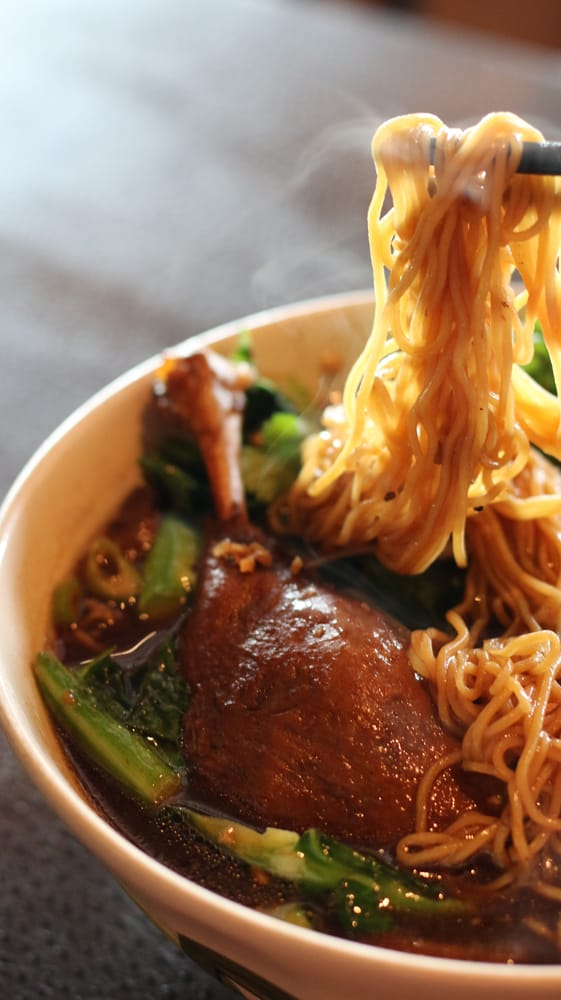 Thai Duck Egg Noodle Soup Bah Mee Ped Tun Yelp