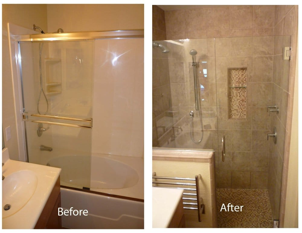 Master Shower Before And After Yelp
