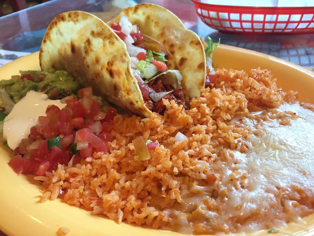 "Photo of El Papagayo - Carmichael, CA, United States. Soy ""chorizo"" tacos (vegetarian)"