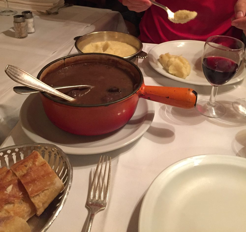 Venison stew with a generous side of mashed potatoes yelp - La biche aux bois yerres ...