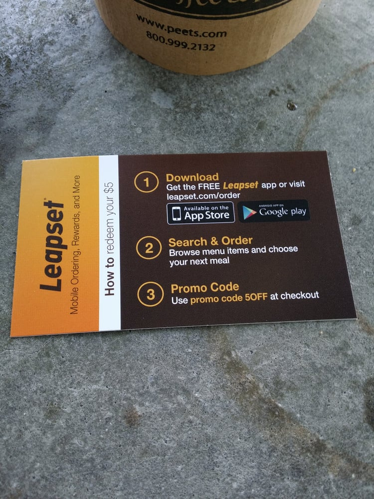 If you order online, use the app Leapset. $5 off your first order ...