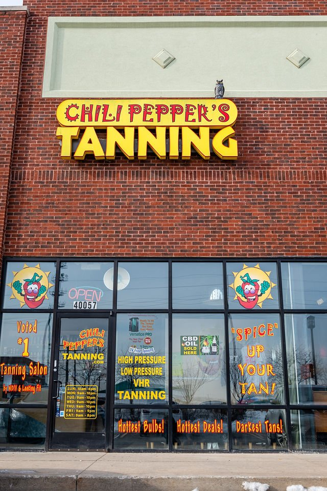 Chili Peppers Tanning: 40057 Groesbeck Hwy, Clinton Township, MI