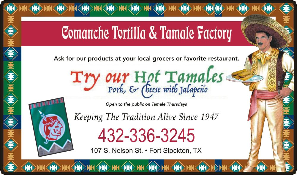 Comanche Tortilla Factory: 107 S Nelson St, Fort Stockton, TX