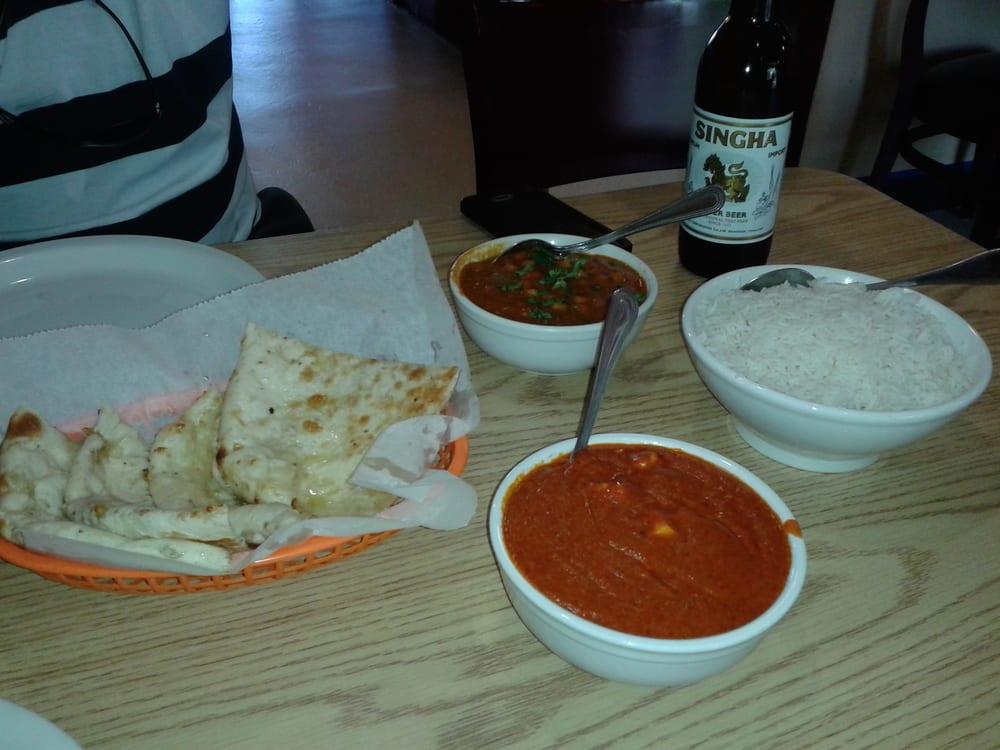 Panier tika masala chana masala chesse nann and rice yelp for 4 spice indian cuisine