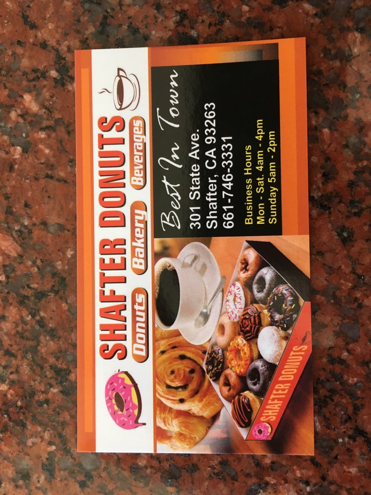 Shafter Donuts: 301 State Ave, Shafter, CA