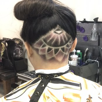 Undercuts Lotus Flower Design Done By At Steezcuts Yelp