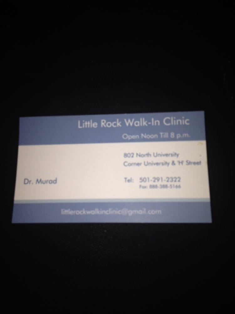 Little Rock Walk-in Clinic: 802 N University Ave, Little Rock, AR