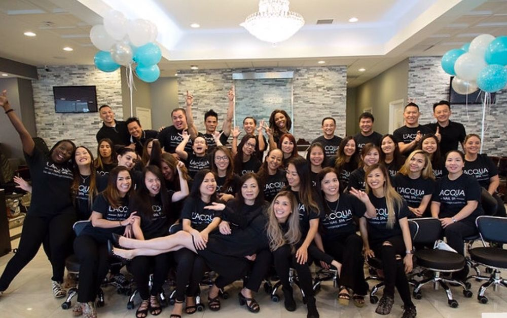Our amazing team yelp for Acqua nail salon