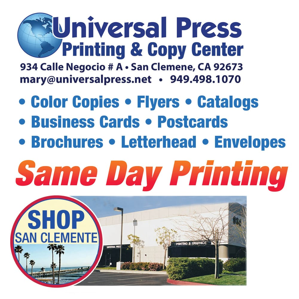 Universal Press 16 Reviews Printing Services 934 Calle Negocio