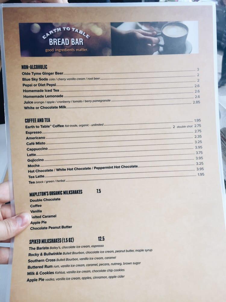 Drink menu yelp for Table 52 drink menu