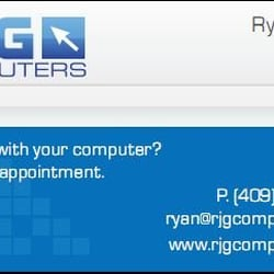 Rjg computers it services computer repair 1818 nederland ave photo of rjg computers nederland tx united states business card reheart Gallery