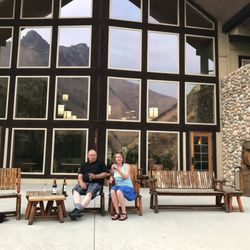 Photo Of Salmon Rapids Lodge Riggins Id United States Sitting Outside Drinking