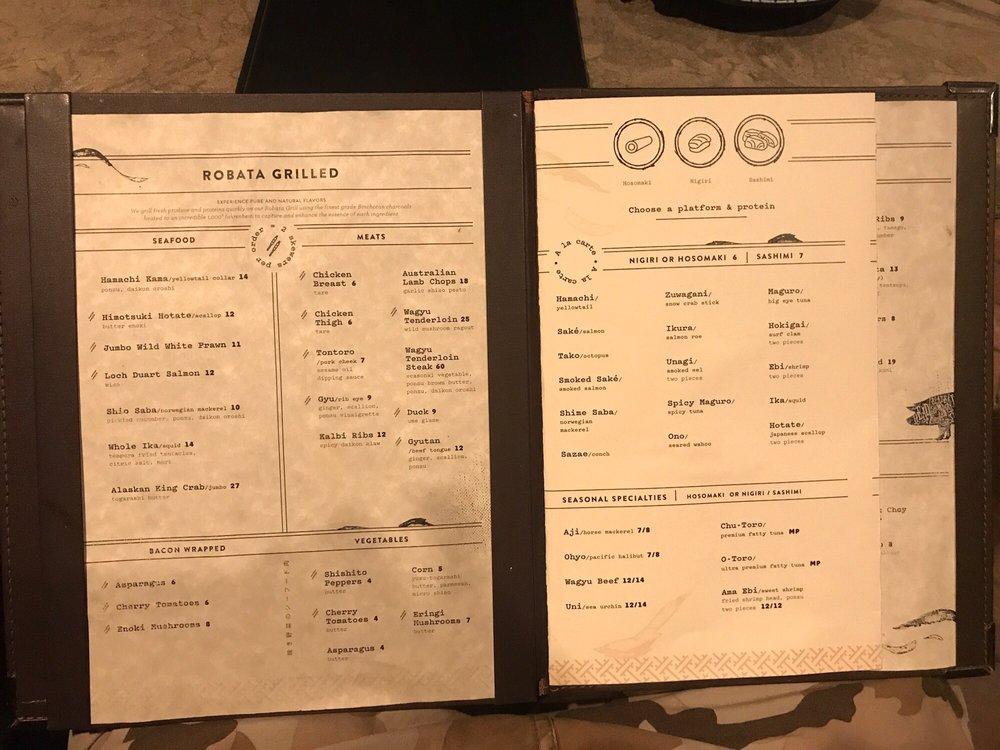 the menu booklet yelp