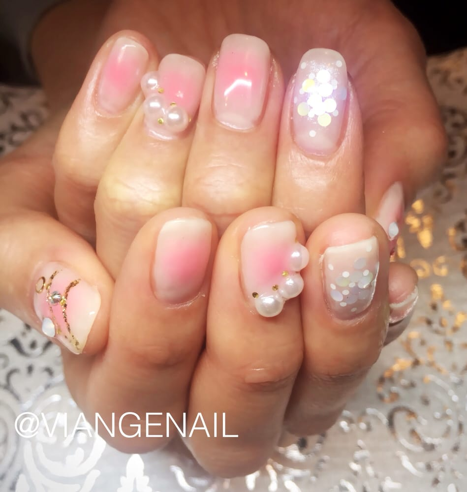 Gel nails :cheek nail:). Japanese gel nail art by Viange Nail - Yelp