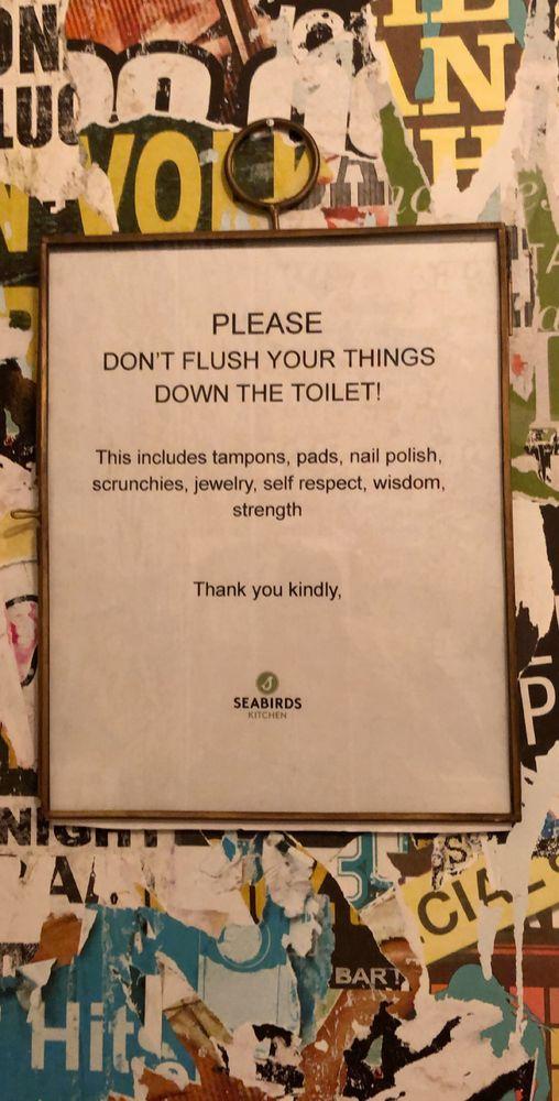 Bathroom Sign Yelp