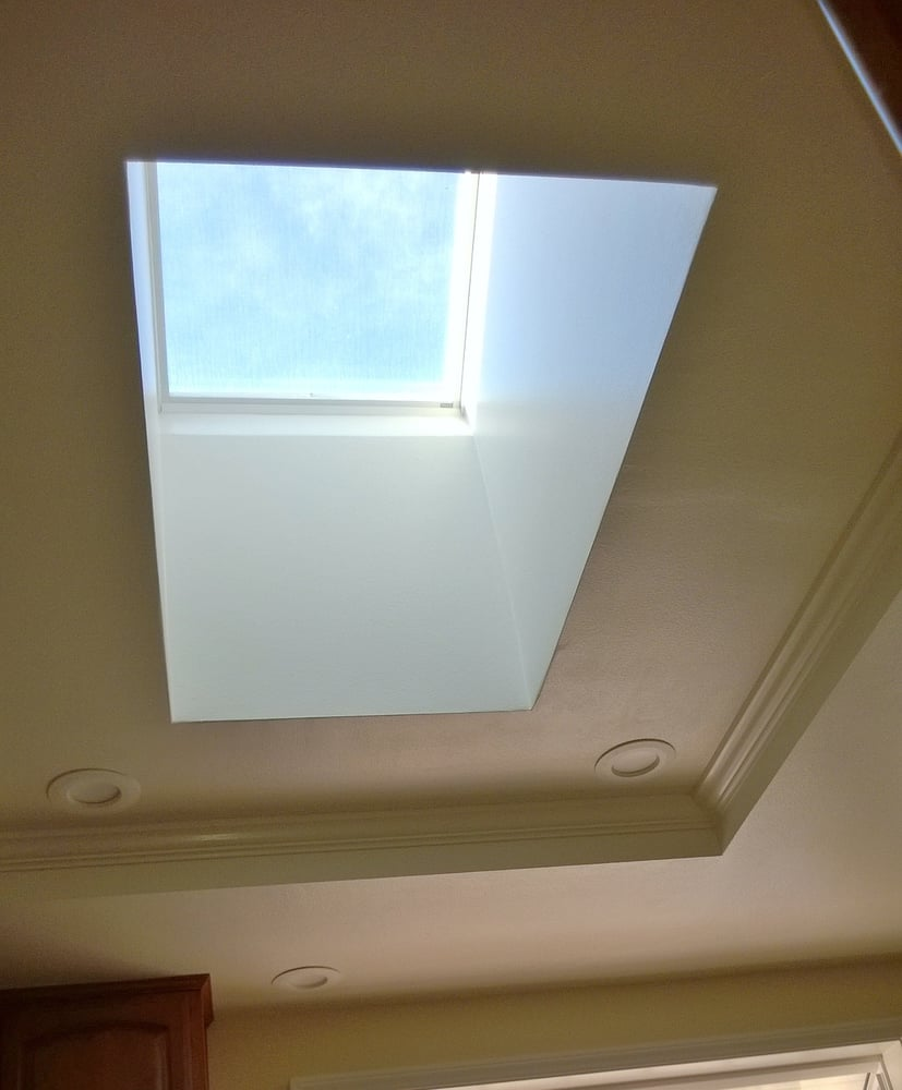 ca united states kitchen skylight with crown molding and led lights