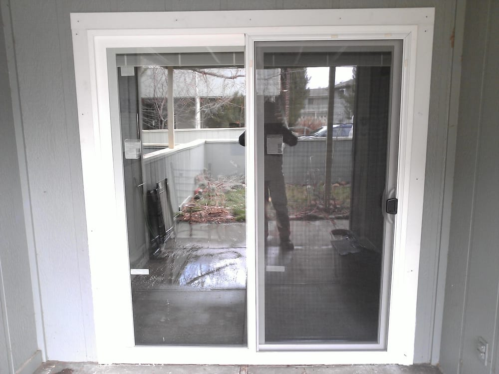 Sliding patio door and exterior trim installation yelp for Outside sliding glass doors