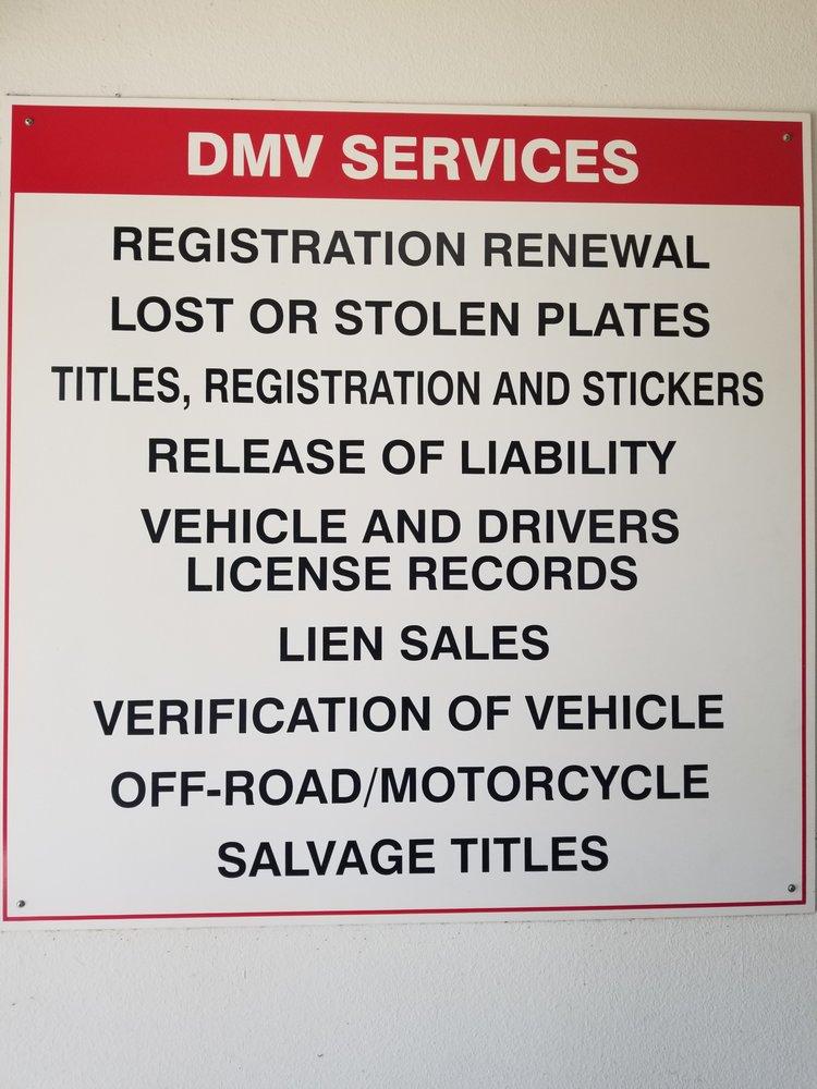 Motor Vehicle Registration Services: 22821 Lake Forest Dr, Lake Forest, CA