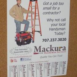 Photo Of Mackura Handyman Services Santa Rosa Ca United States New Flyers