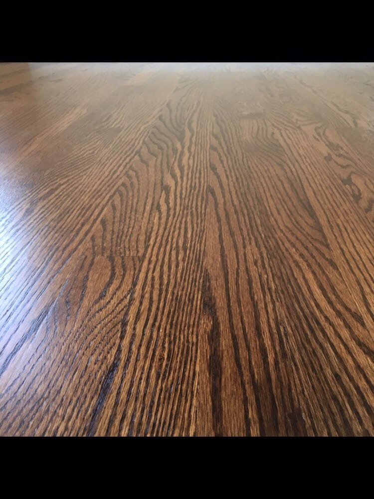 Red Oak Hardwood Floors Refinished With Coffee Brown Stain And Oil