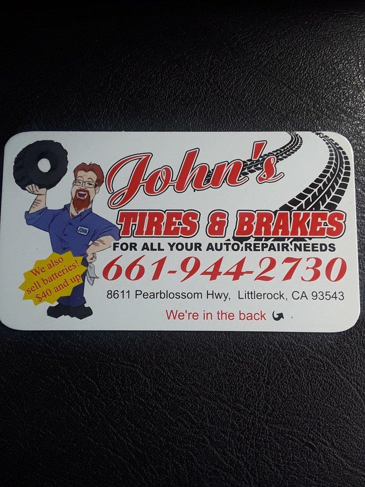 John's Tires & Brakes: 8611 Pearblossom Hwy, Littlerock, CA