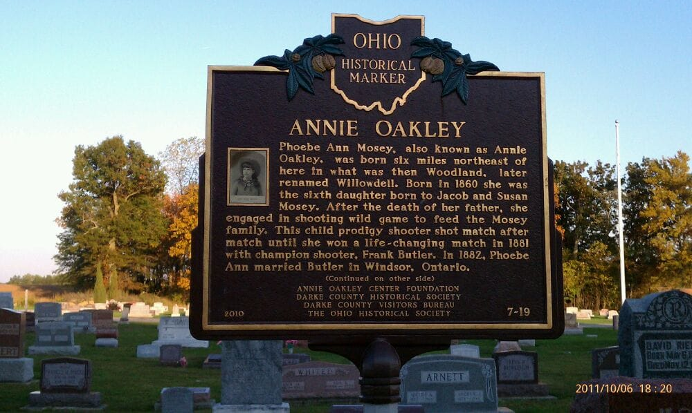 Annie Oakley Grave: Brock Cemetery, Greenville, OH