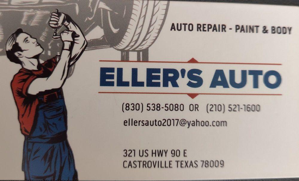 Eller's Auto: 321 US Hwy 90 E, Castroville, TX