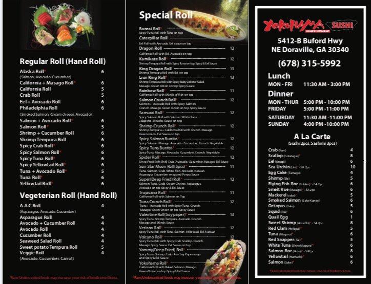 Yokohama Sushi: 5412-B Buford Hwy NE, Doraville, GA