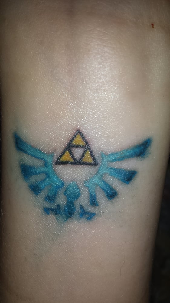 My Beautiful Legend Of Zelda Triforce Tattoo On My Left Wrist