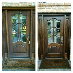 Photo of Custom Door Restoration - Houston TX United States. Restoration of door ... & Custom Door Restoration - 18 Photos - Door Sales/Installation ... pezcame.com