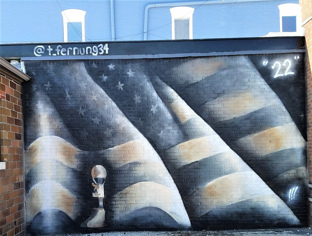 22 - Black Flag Mural: 125 N Main St, Tipton, IN