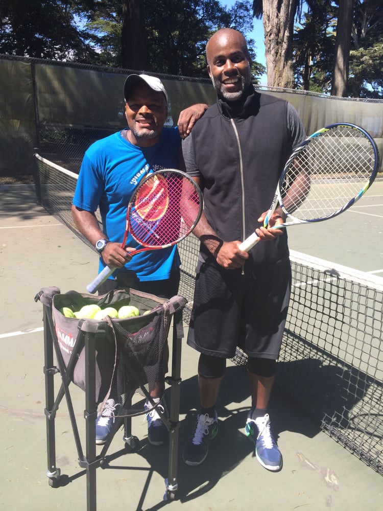 Tennis Lessons By Mcclain - San Francisco, CA, United States. coach Mcclain and client Michael Jackson