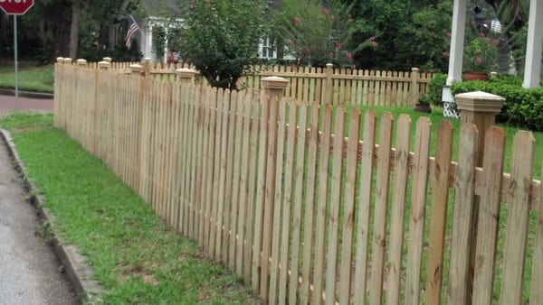 4 Foot Tall Picket Fence With Optional Post Caps Yelp