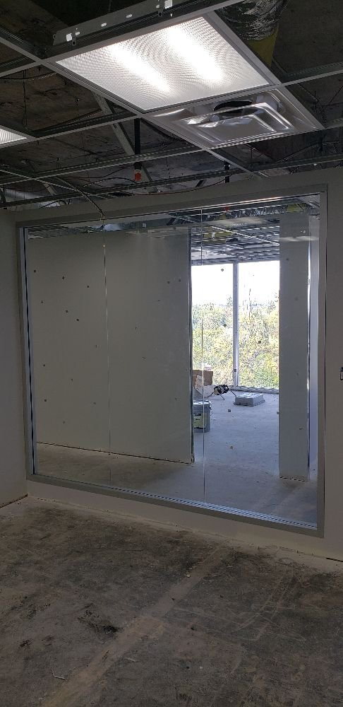 Frameless Office Enclosure Heavy 38 Tempered Glass Yelp