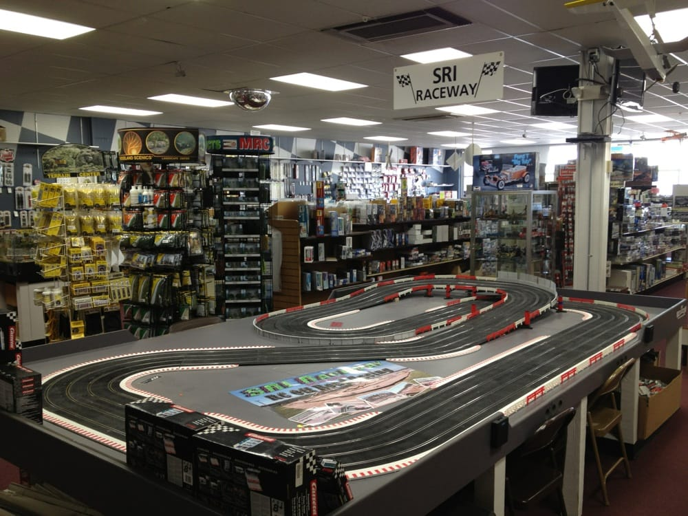 Slot car track right in the store  - Yelp
