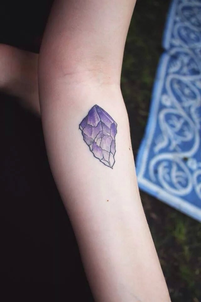 my first tattoo amethyst crystal done by taylor dees yelp. Black Bedroom Furniture Sets. Home Design Ideas