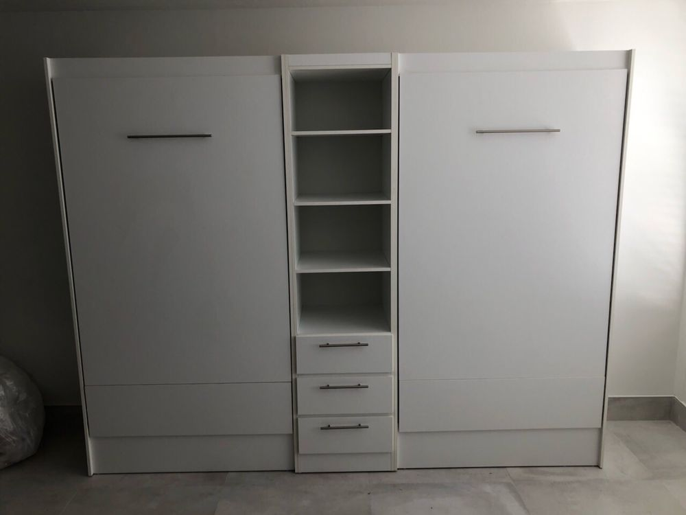 Two Twin Murphy Beds With Center Cabinet Yelp